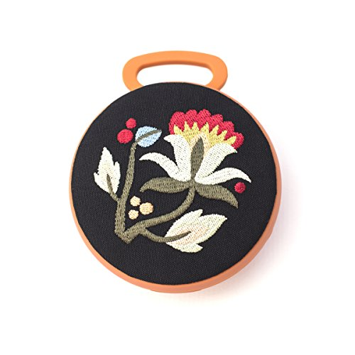 Tech Candy Better Off Thread Bluetooth Speaker Hungarian Embroidery Amazing Sound Stylish Designer Beautiful Carabiner Clip On Backpack or Bag Pretty Orange Flowers Wireless Girls Women