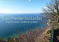Vom Pfaender nach Lindau (Wandkalender 2022 DIN A2 quer): Eine Wanderung vom Berg zum See. (Monatskalender, 14 Seiten )