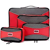 PRO Packing Cubes Packwürfel für die Reise - Gepäck Organizer Taschen, Zubehör - Ultraleicht 4 Stück