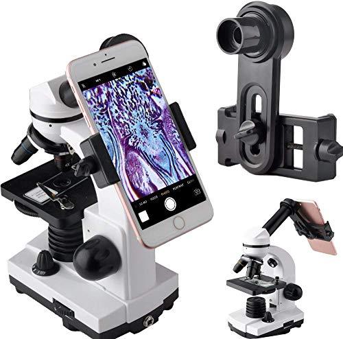 Adaptador de Lente de microscopio, microscopio para cámara de Smartphone, para Tubo Ocular de microscopio de 23,2 mm, Ocular WF de 16 mm Integrado, Captura y graba la Belleza en el Micro Mundo
