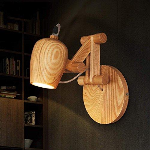 DSJ massief houten Villain wandlamp nacht kamer gang Coffee Shop boekenhandel spiegel voorzijde wandlamp