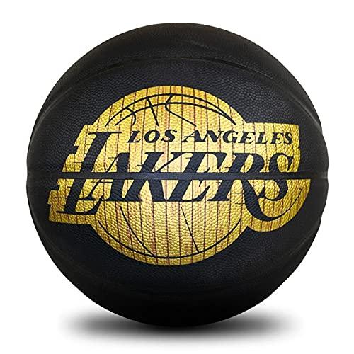 Uhlsport NBA Hardwood Series Lakers 76-606Z - Pelotas de Baloncesto, Color Negro y Dorado