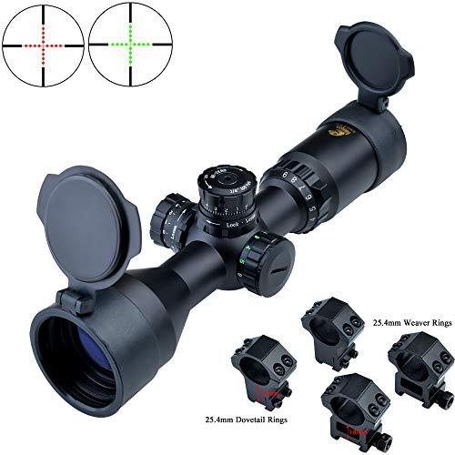 Eagle Eye Luftgewehr Zielfernrohr Scope 3-9x42 CE R/G (25.4mm/1inch) Kurz Mil Dot Gläsern absehen Zielfernrohre Mit Weaver und Dovetail 2 Verschiedenen Montage
