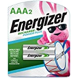 Energizer Rechargeable AAA Batteries, NiMH, 800 mAh, Pre-Charged, 2 Count (Recharge Power Plus)