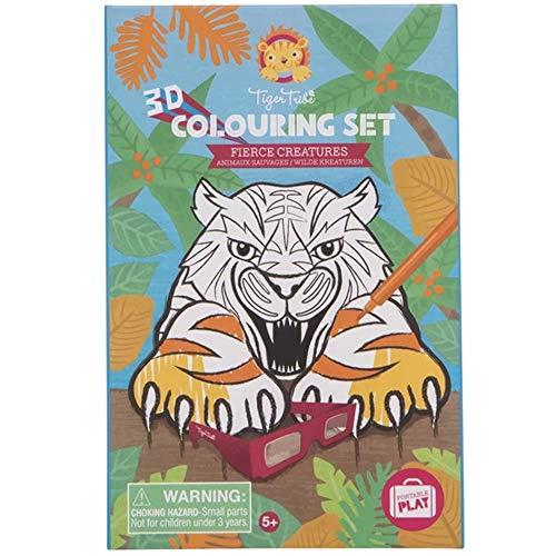 Bertoy 3760263 3D Colouring Activity Special Sets, Fierce Creatures