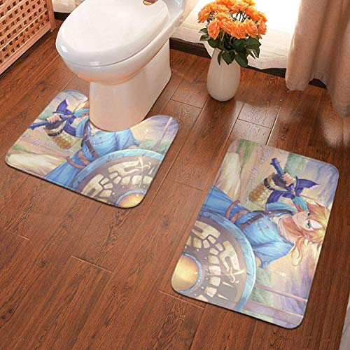 YHKC Küche, Haushalt & Wohnen Badausstattung Badematten und -teppiche Watercolor Flower Vines Flowers Garden 2 Piece Bathroom Mat Set Pedestal Rug Bath Mat Rug Non Slip Doormat