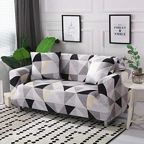 ASCV Funda de sofá de algodón Funda de sofá elástica Fundas de sofá elásticas para Sala de Estar Protector de Muebles de sofá en Forma de L Individual A2 4 plazas