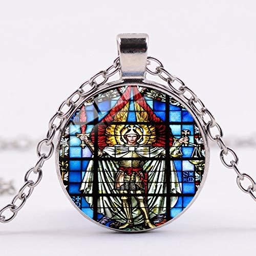 Arcángel San Miguel Collar Protect Me Saint Shield Ángel P
