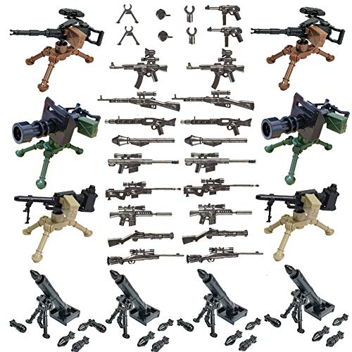 Military Army Weapons and Accessories Mortar Building Block Toy Gifts for Age 6 7 8 9 10 Years Old Minisize Compatible Major Brand