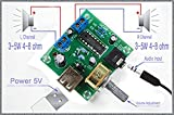 PM2038 2X5W Stereo Audio Amplifier Bord 5V USB Power Supply Adjustable Volume
