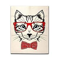 アートパネル キャンバス油絵 ポスター 絵画 猫 かわいい キャンバス 絵 壁インテリア インテリア絵画 壁掛け 木枠 フック付き アートポスター 飾り絵 玄関 レストラン 寝室 壁画アート 現代アートフレーム 祝い ギフト 35x35cm