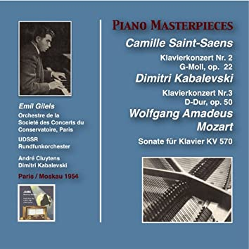 Piano Masterpieces: Emil Gilels Plays Saint-Saëns, Kabalevski & Mozart (Recorded 1954)