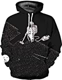 SCHSA Hoodie Astros Jäten 3D-Digitaldruck Sweater Mit Kapuze Sweatshirt Casual Wilde Paare Koreanischen Jugend Casual Jacke, Wie Gezeigt, M