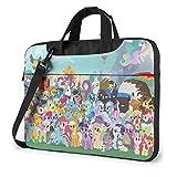 Movie M-y Li-ttle Po-ny Laptop Bag One Shoulder Shoulder Shockproof Protective Notebook Package-15.6 inch