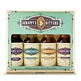 Scrappy's Bitters The New Classics Gift Set, 4 ct, 0.5oz (Lavender, Cardamom, Black Lemon, and...