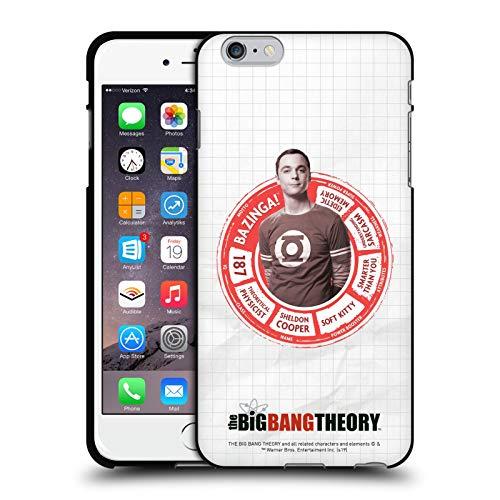 Head Case Designs Ufficiale The Big Bang Theory Sheldon Attributi Personaggi Cover Nera in Morbido Gel Compatibile con Apple iPhone 6 Plus/iPhone 6s Plus