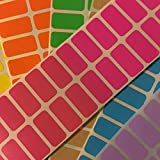 Etichette adesive colorate rettangolari in 12 colori, 35,6 x 16,9 mm, etichette autoadesive, etichette colorate, 240 etichette, rosate