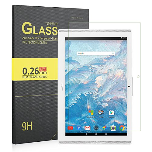 IVSO Acer Iconia One 10 B3-A40 Pellicola Protettiva, Schermo in Vetro Temperato per Acer Iconia One 10 (B3-A40) Tablet (Tempered Glass - 1 Pack)