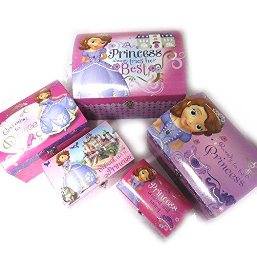Disney Princesses [N0907] - Set de 5 Malles Dome 'Princesse Sofia' Rose Violet