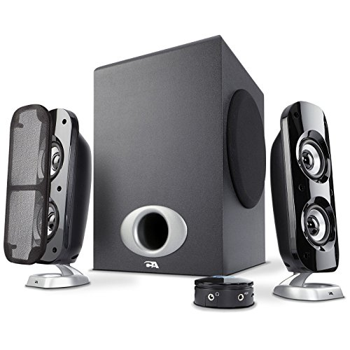 Cyber Acoustics High Power 2.1 Subwoofer Speaker System with 80W of Power – Perfect for Gaming, Movies, Music, and Multimedia Sound Solutions (CA-3810) (Renewed)