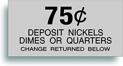 Solar Graphics USA Restoration Decal - for Vintage Soda Pop Soft Drink Vending Coin Change Slot Compatible with Dixie Narco Pepsi, Coca Cola Machine - 75 Cent - 2.188 x 4.5 Inch