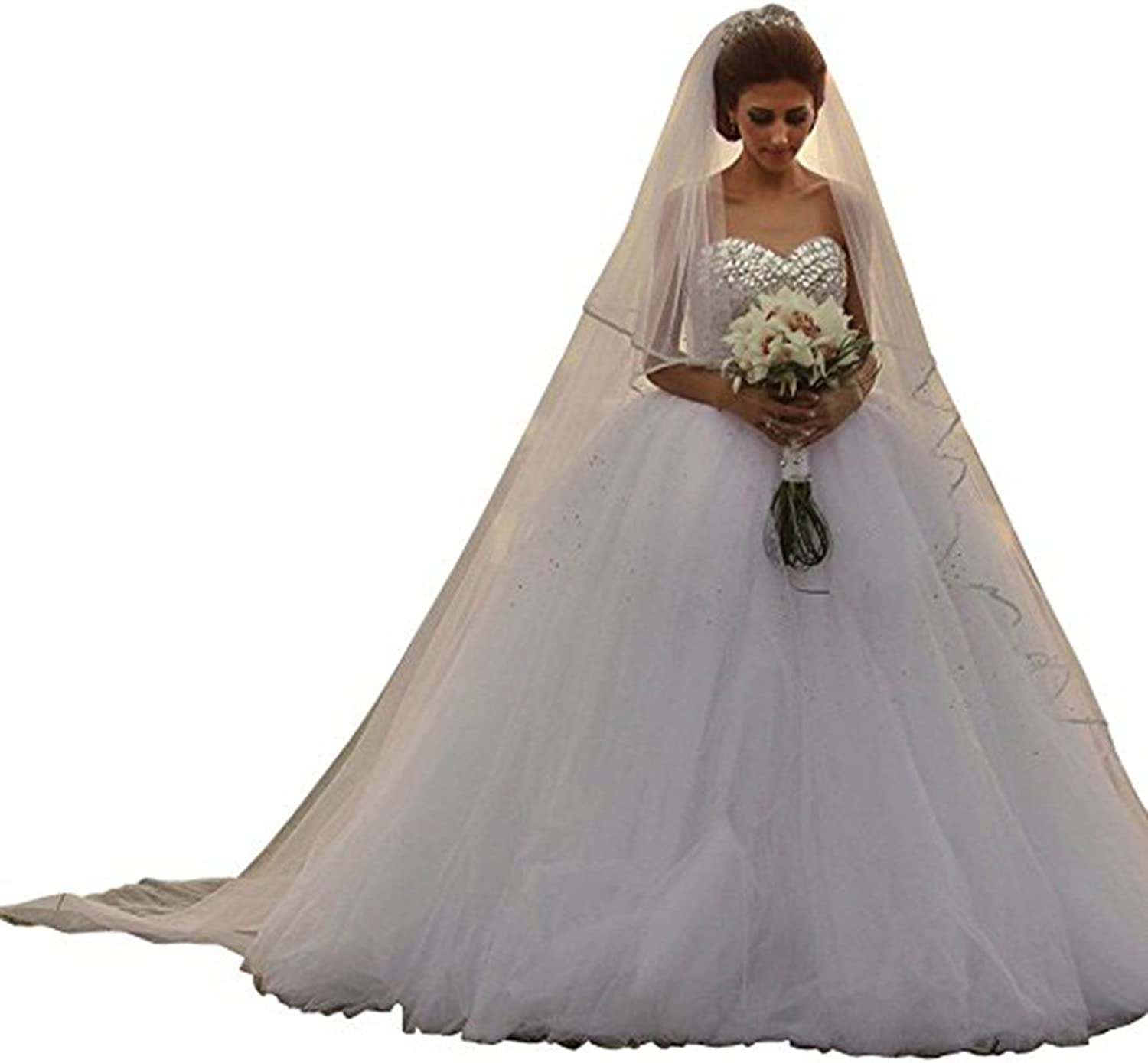 Chenghouse Ball Gown Wedding Dresses Crystals Sweetheart Wedding Gowns