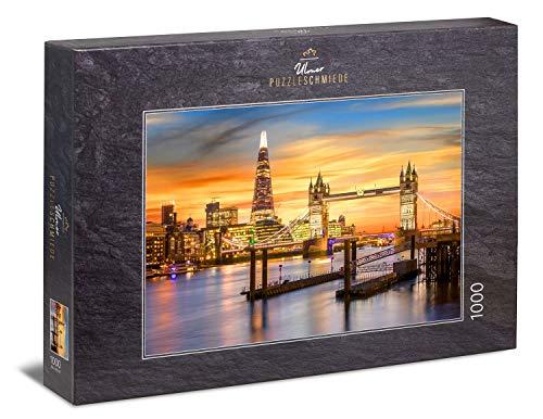 Ulmer Puzzleschmiede - Puzzle Secoli di Londra - Motivo Puzzle di Londra con i Punti di Riferimento storici e Moderni