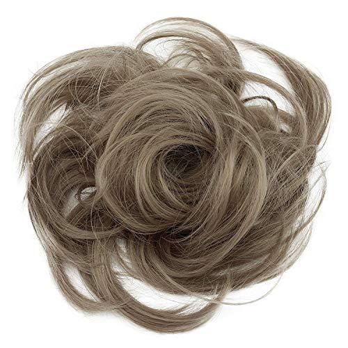 PRETTYSHOP Postizo Coletero Peinado alto, rizado, Moño descuidado,natural de rubio # 103...