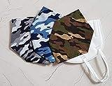 Überzug Cover für Masken Mundschutz Verschönerung Camo Baumwolle Oeko Tex Stoff Maskenüberzug Abdeckung waschbar Handarbeit Camouflage verschiedene Farben