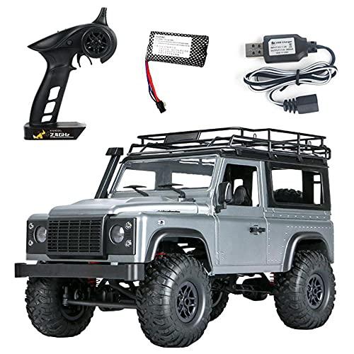 Akazan 1:12 2.4G 4WD RC Cars Radio Control Juguetes sobre orugas Todoterreno Buggy Modelo de vehículo Camiones electrónicos Todoterreno Regalos Juguete para niños