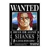 One Piece Anime Yonko 4 Kaiser Four Emperors Wanted Poster,