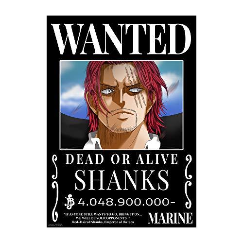 One Piece Anime Yonko 4 Kaiser Four Emperors Wanted Poster, Shanks Kaido Big Mom Blackbeard | 4er Set DIN A3 (297 x 420 mm) Matt