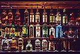 HQHff Conteneur de bière spiritueux Bouteille Bouteille de vin Bar,Puzzle 500 pièces Adultes 52x38cm,3D Puzzles en Bois Adulte Jouets éducatifs pour Enfants Bricolage décoration