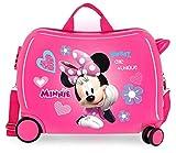 Disney Minnie Fabulous Correpasillos Maleta de Cabina Correpasillos Infantil Rosa 50x39x20 cm | Equipaje de Mano, Trolley de Viaje Ryanair, Easyjet | Maleta Fin de Semana de Viaje Rígida Divertida