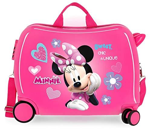 Disney Minnie Fabulous Correpasillos Maleta de Cabina Correpasillos Infantil Rosa 50x39x20 cm...