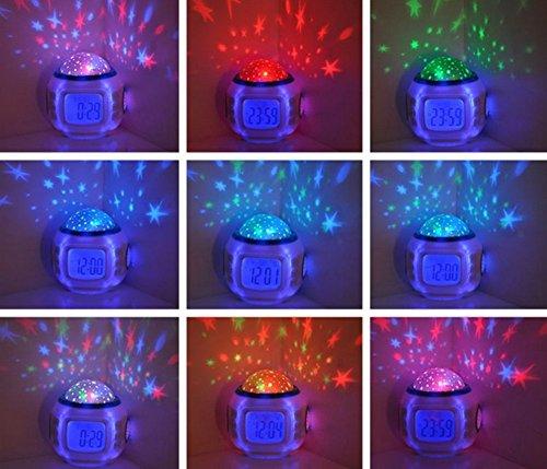 LED allume la musique réveil coloré veilleuses lumières de paysage veilleuses