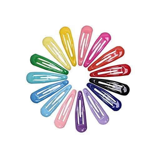 YUEMING 60 Piezas Clips Pelo Niña, Pinza de Pelo Metal Multicolor, Mini...