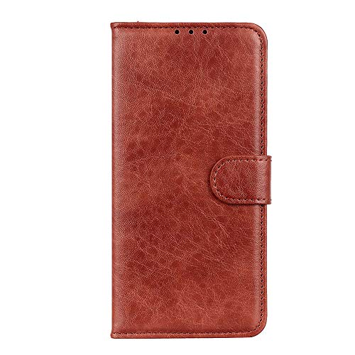 Flip Case for iPhone XR, Brown PU Leather Wallet Cover (Compatible with iPhone XR)
