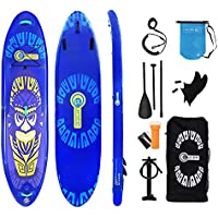 KUHEE SUP Inflatable Stand up Paddle Board, 10'6