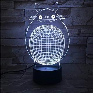 WoloShop Lampara LED Ghibli Totoro Cambia Color USB Luz Nocturna