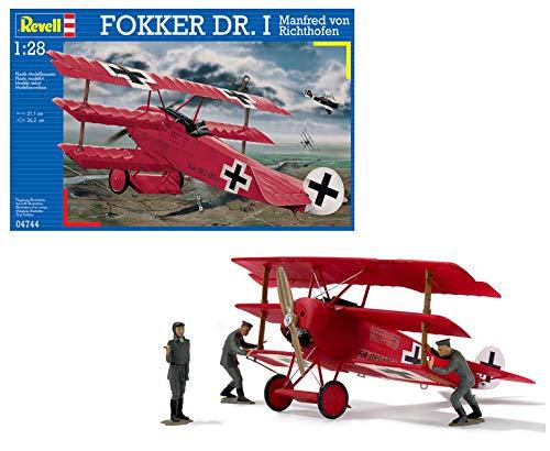 Revell Maqueta Fokker DR. I Manfred Von Richthofen, Kit de Modelo, Escala 1:28 (4744) (04744)