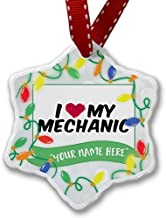 pansy Novelty Christmas Decorations Personalized Name Christmas Ornament I Heart Love My Mechanic Ornament Craft Crafts Xmas Tree Hanging