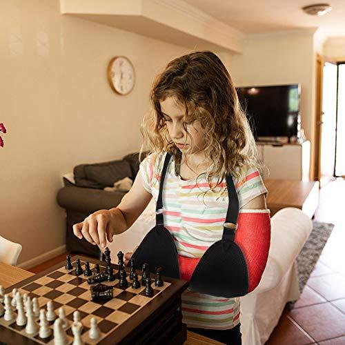 HEALLILY Arm Sling Shoulder Immobilizer Mesh Arm Shoulder Sling Arm Brace for Torn Rotator Cuff Injury Broken Fractured Bones Elbow Wrist Thumb Injuries Black