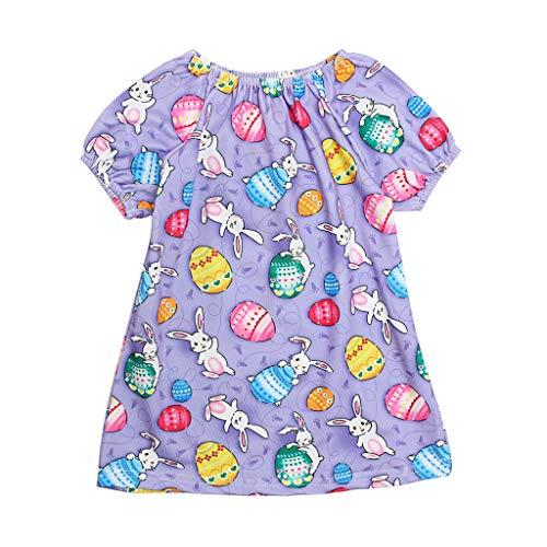cover Prinzessin Kleid Baby Mädchen Ostern Osterhasen Kostüm Rüschen Ärmel Muster Hase Kleider Kaninchen Bekleidungsset