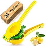 Last Drop Premium Lemon Squeezer - Easy To Squeeze 2-in-1 Lemon Juicer & Lime Squeezer - Manual Citrus Squeezer To Get Every Last Drop Of Juice