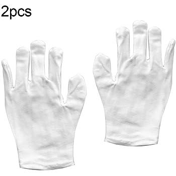 Whiie891203 - Guantes cálidos de invierno, 2 pares de guantes de trabajo unisex de algodón elástico antiguo, color blanco, 1 color: Amazon.es: Deportes y aire libre