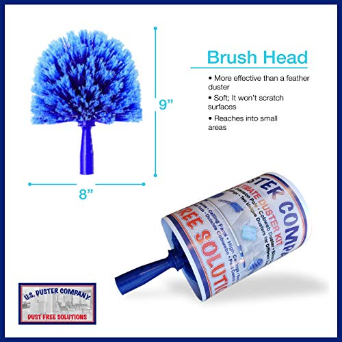 Extension Rod & Cobweb Duster, Extend 18-20 feet, Cleaning High Ceilings, Cathedral Ceilings, Ceiling Fans, Book Shelve, Curtain Rods, Pest Control Duster, U.S Duster Co.