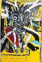 グラフィティカラフルなキャンバス絵画クレイジーラブポスターとプリントウォールアートの写真装飾的な壁の写真-50X75Cmフレームレス