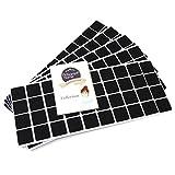 Adsamm® | 200 x almohadillas de fieltro | 25x25 mm | negro | cuadrado | Protectores de suelo para patas de mueble | auto-adhesivos | con grosor de 3,5 mm de la máxima calidad