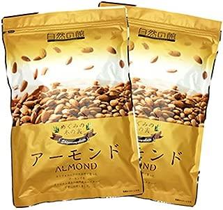 \エクストラNo.1/ 素焼きアーモンド 1kg (500g×2) こだわり焙煎 無塩 無油 無添加 保存に便利なチャック付袋 小分け500g×2袋